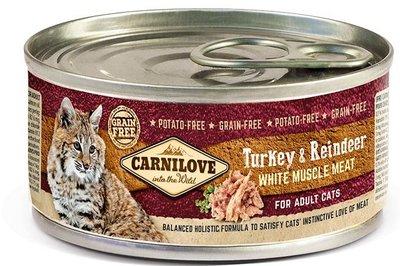 Carnilove Kat Turkey/Reindeer 6+2 gratis
